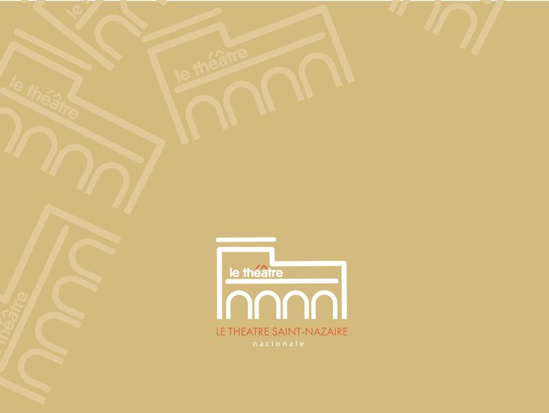 Logo for theatre Saint-Nazaire app animation ui branding identity logodesign graphicdesign design logocreation creation logo