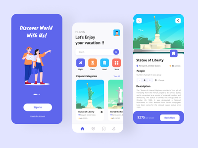 Travel Service App uiux mobile design mobile ui vacation holiday trips mobile apps mobile app design trip app trip travel agency traveling travel app discover mobile app booking app booking app design