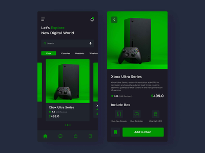 Xbox Shop App (Game Tools App) ui  ux shop payment xbox one xbox series xbox mobile app headsets game store gaming game app game console game tools game shop games console controller app design