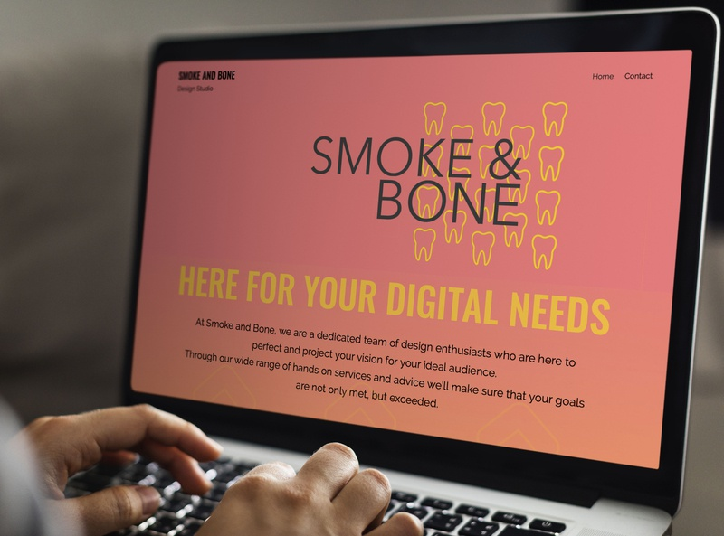 Smoke and Bone Website design live wix mockup website branding digital