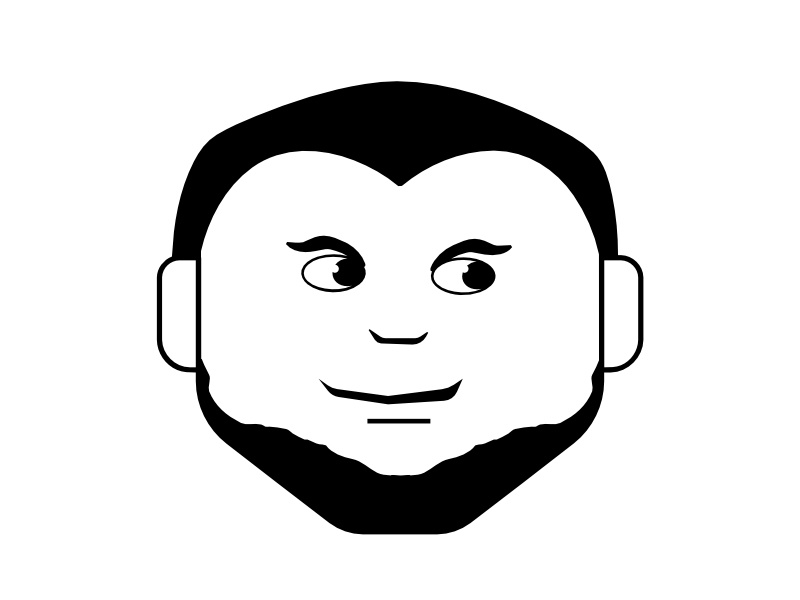 The Cool Dude icon graphic illustration beard man face dude cool