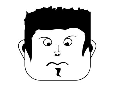 Random Cool Guy illustration graphic face cool guy