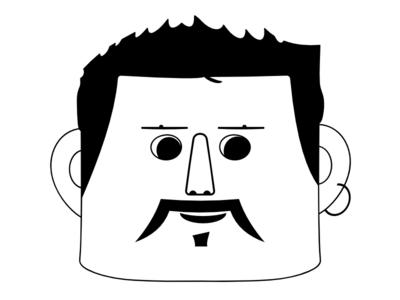 Another Cool Singer shankar mahadevan moustache graphic illustration guy face earring musician singer