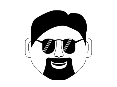 The Classic French Beard Guy illustration face icon sunglasses goggles guy french beard