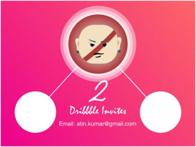 2 Dribbble Invites new players 2 invites dribbble invite