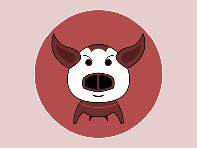 Frequent Drawing Series - 02 drawing illustration face pig
