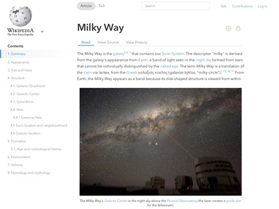 Wikipedia Article Page Redesign web design alignment spacing ui wikipedia article wikipedia