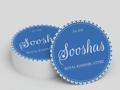 Sooshas Logo + Cloth Tags tag logo illustration