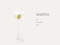 Martini Vector illustration sketch vector illustration cocktail vermouth gin olive martini