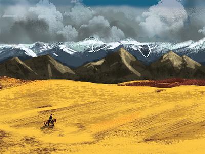 digital painting illustration landscape illustration digital painting