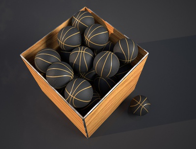 basketball octanerender motion design cinema4d 3d modeling c4d