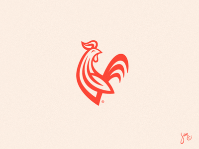 Country Rooster | Logo Design bakery coffee rooster red bird animal design stripes animal logo design symbol mark icon logo