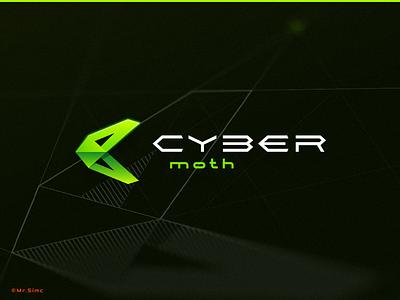 Cyber Moth moth logo designer logo design digital cyber