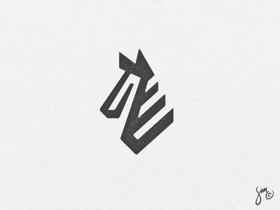 Zebra | Mark icon black and white animal design stripes solid mark logo zebra
