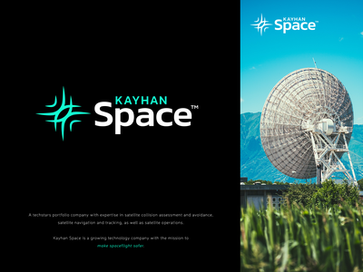 Kayhan Space | Logo Design operations tracking connection waves orbits technology stars safety satelite space logo design design proposal