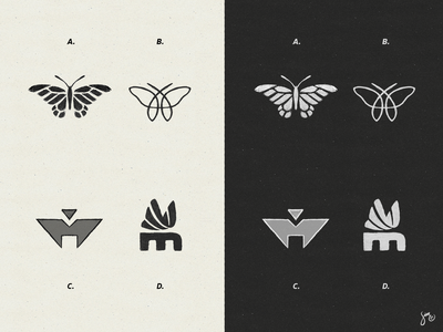 Butterfly | Style Exploration sketch mono solid segments linework style exploration monarch butterfly icon logo design logo