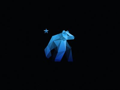 Bear Logo / Final branding bear rebound icon logo star blue dark sight poly polygon