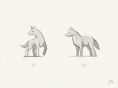 Wolf | WIP paper proposal sample work in progress draw sketch logo nature lupine wolf
