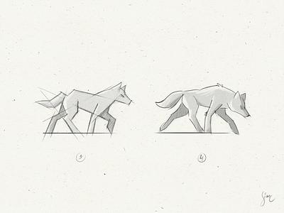 Wolf | WIP 2 paper proposal sample work in progress draw sketch logo nature lupine wolf