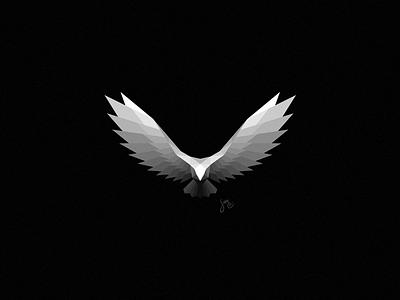 Eagle | Logo Design logo flight simple polygon nature black white icon powerful bird eagle