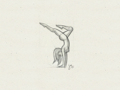 Dancer | Sketch clothing curve yoga figure female gymnastics line paper wip sketch logo dancer