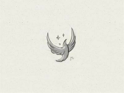 Bird | Sketch todolist stars wings drawing rising flying bird concept sketch mark logo