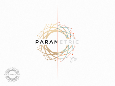Parametric | Logo Design grid system curves bezier golden round structure geometry simple outsidethebox logo parametric