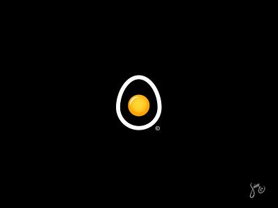 Egg | Logo Design contrast white egg yolk minimal symbol icon mark logo concept egg