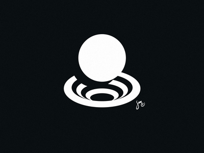 8 | Mark Design ball hole whirpul circles simple negative space number symbol mark logo design