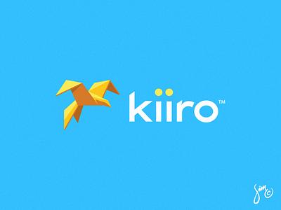 Kiiro | Logo Design origami animal design flight esports sharp blue sky logo logodesign bird kiiro