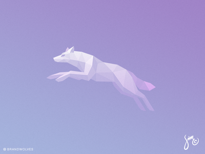 Wolf | Logo Design logo animal design mark symbol light dynamic jumping foggy low poly polygon wolf logo wolf