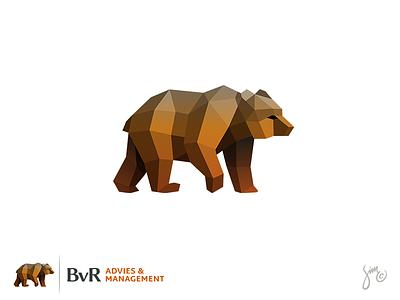 Bear | Logo Design consultant animal design brown mark icon management logo design polygon low poly bear