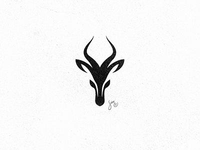 Gazelle | Logo Design elegant mark negative space black and white animal design logo gazelle