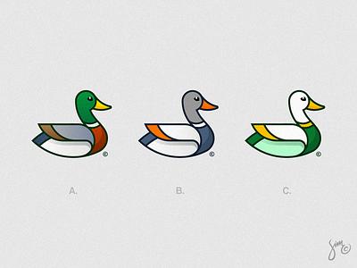 Mallard Duck | Logo Design geometric abc nature variations bird logo animal design apparel clothing design proposal colorful duck mallard