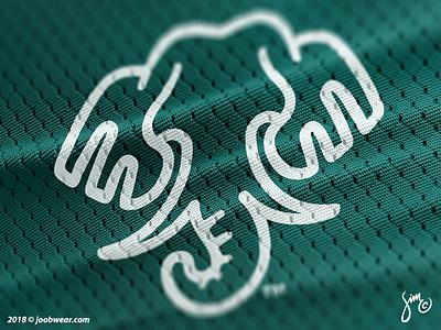 Joob   Elephant Logo made in us kickstarter brand identity green kiss environment apparel activewear nature animal logo mono lines line art logo elephant