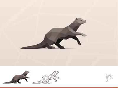 Otter | Polygonal Logo