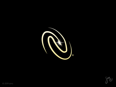 Snake | Logo Design elipse rounded whirlpool enigmatic esoteric mysterious negative space events night life clubs logo snake