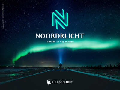 Noordrlicht | Logo Design space sky effective simplistic arrows people issues goverment lifestyle advising lights north aurora borealis brand identity noordrlicht