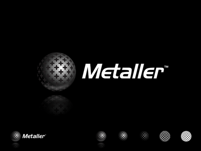 Metaller | Logo Design texture rounded matte glossy shiny experimental for sale 3d effect cross mapped effects sphere metallic blackandwhite logo