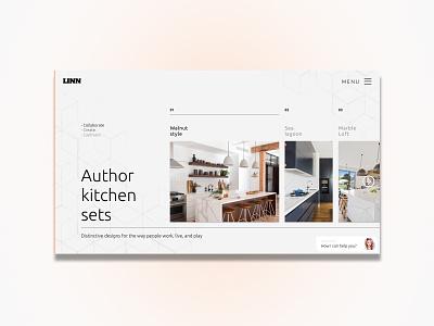 Author kitchen sets | Linn webdesign webdesigner interface 2020 trend gradients project elements portfolio website minimal web ux ui design