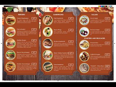 Restaurant Menu (interior side) brochure indesign typography catalog menu flyer print design print design photoshop magazine design layoutdesign illustrator graphicdesign