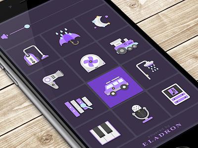 Little Sleeper train fan sound relax icon layout sleep baby ux ui app iphone