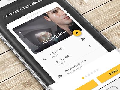 Talxi Walkthrough android design material auto car profile service button opening walkthrough cab taxi