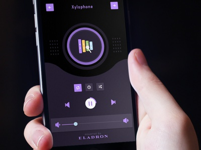 Xylophone ui ios dark icon cycle track sleep music sound xylophone babies baby