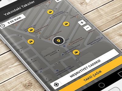 Talxi Map android design material auto car profile service button opening walkthrough cab taxi