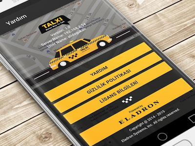 Taxi - About Us walkthrough taxi service profile opening material design car cab button auto android