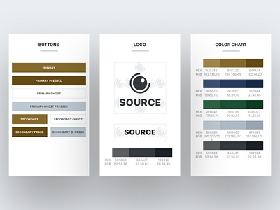 Source Guideline iphone palette source logo charts button chart color app branding guide guideline