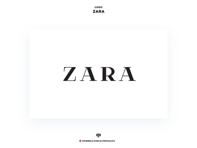 Zara brand minimal mark concept medium luxury wordmark fashion black and white branding redesign logo zara
