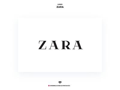Zara brand minimal mark concept medium luxury wordmark fashion black and white branding redesign logo zara