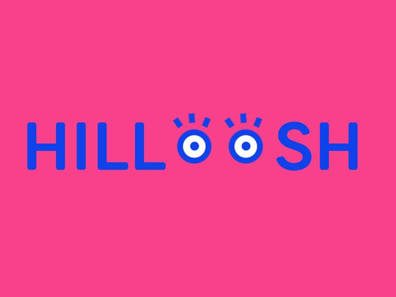 Hilloosh barnding shop store fashion kids eyes branding typography logo color brand identity stuffstudio design brand